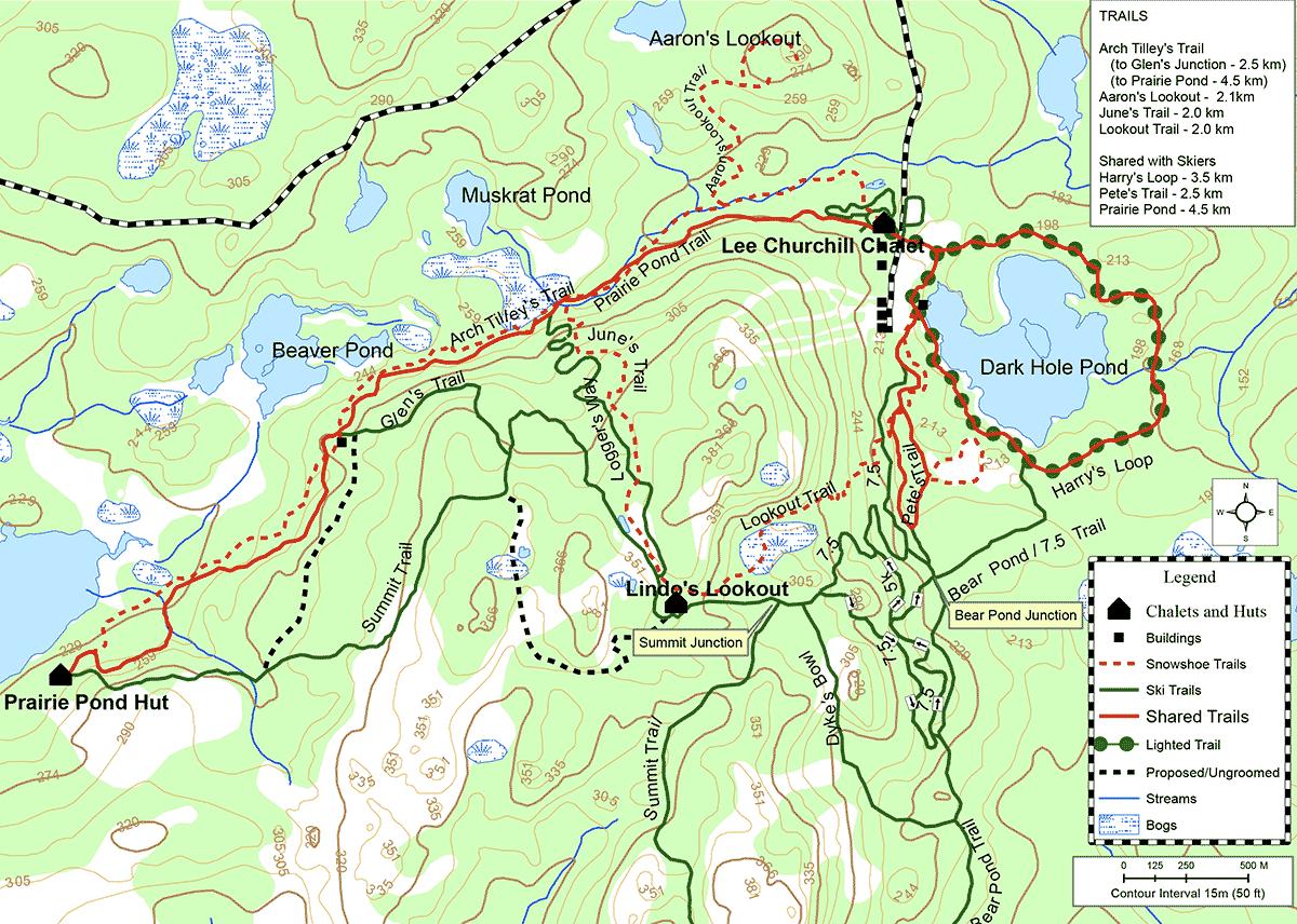 randonnées en raquettes White Hills